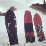 潰れたスキー場で滋賀から来た見知らぬ人と雪板セッション。
