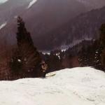 この標高差、分かる?かなりハードコアなスキー場です。